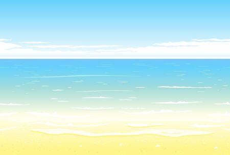 horizontally: Summer beach background nature landscape tileable horizontally