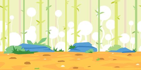 Bamboos Game Background Landscape