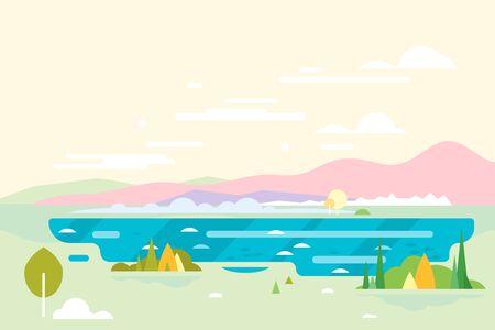 chillout: Geometric Nature Landscape Background