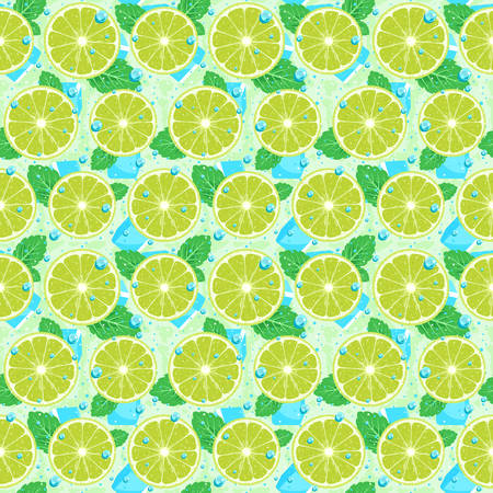 Lime with Mint Seamless Pattern