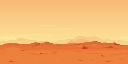 Martian Landscape Background illustration.