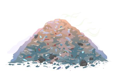 Garage dump illustration