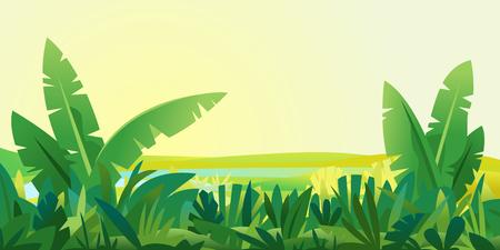 Jungle Plants Landscape Background