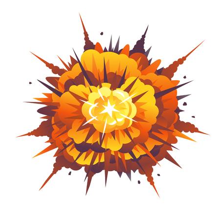 Radial Bomb Explosion Illustration