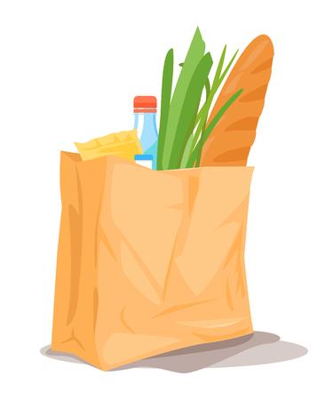 Paper Bag With Food Standard-Bild - 101628097