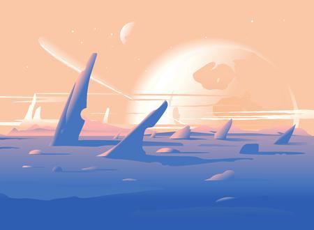 Fantastic Planet Surface Landscape