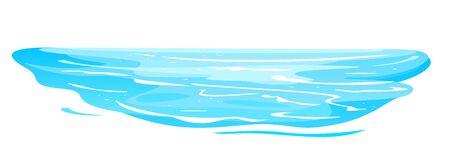 Blue sea waves of water on front view isolated illustration, waves on the beach clipart