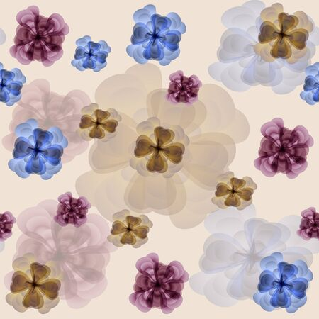 Cheery floral seamless background  Illustration