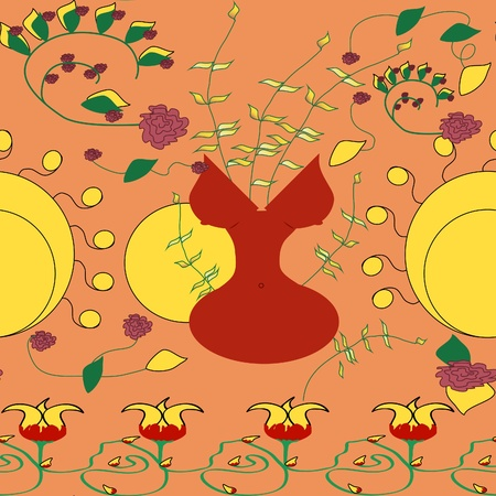 affiliates: seamless background in art nouveau style