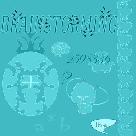 seamless background with pictures of brainstorming