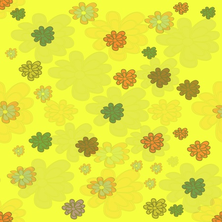 seamless background with colors flowers