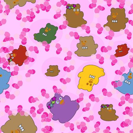 Children Background with cheerful bears
