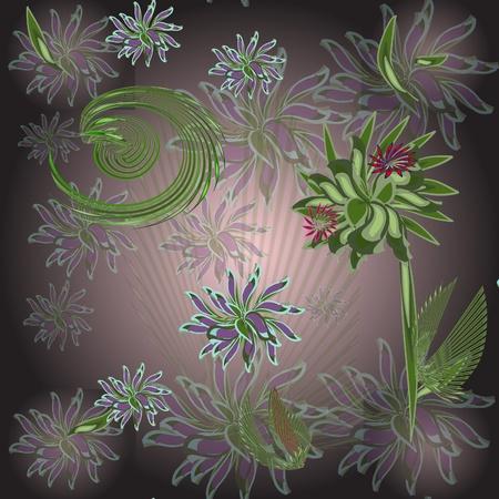 Dark seamless flower background