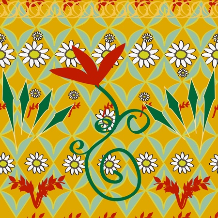 the sprouting: Bright ethnic seamless background