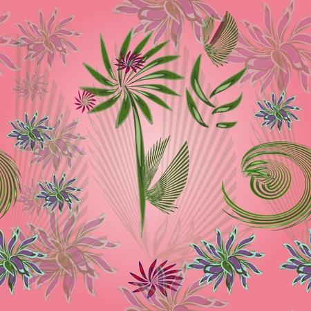 Flower pink seamless background