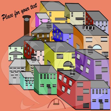 Color houses with your text Stock Vector - 10160746