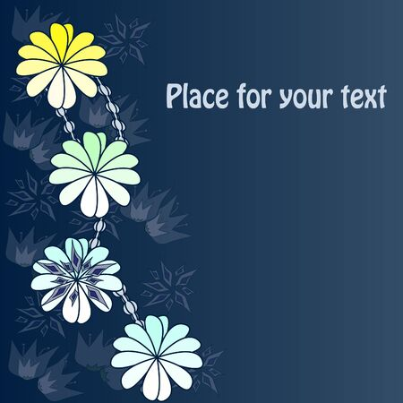 Background with abstract Flowers with your text Vector