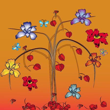bouquet of herbarium Illustration