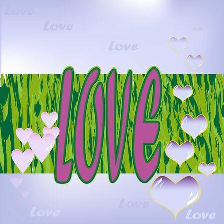 Postcard of Love Illustration