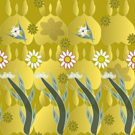 abstract seamless background with flowers Vector