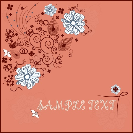Abstract floristic background with your text Stock Vector - 12205048