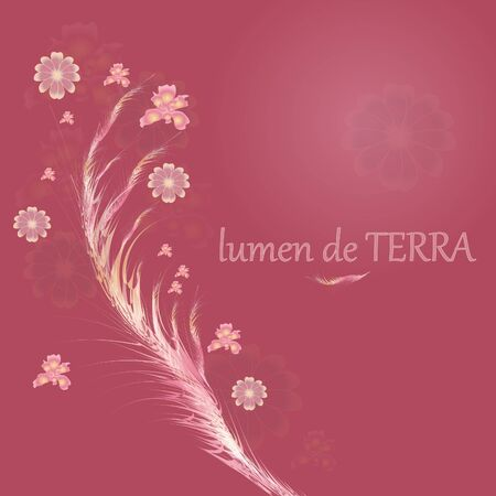 Glowing with abstract flowers Vector
