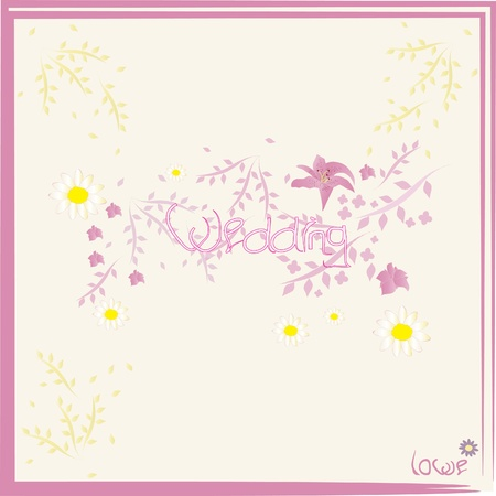 picture of wedding flower inscribed Stock Vector - 12793743