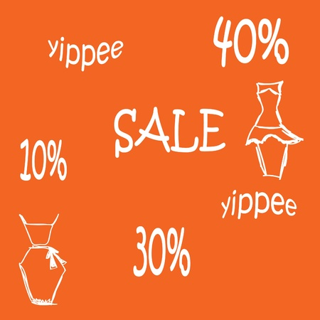 vector background with a sale of 40