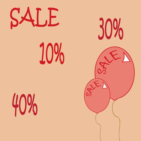 vector background with a sale of 40  Vector