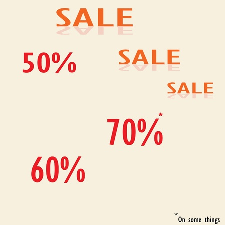 vector background with a large sale of up to 70