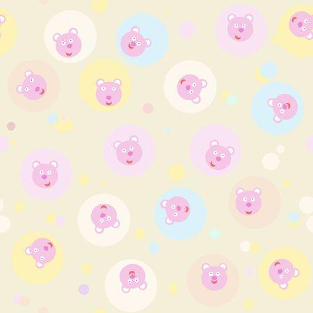 amusing seamless children s background with bears Illustration