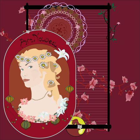 Picture in Art Nouveau Illustration