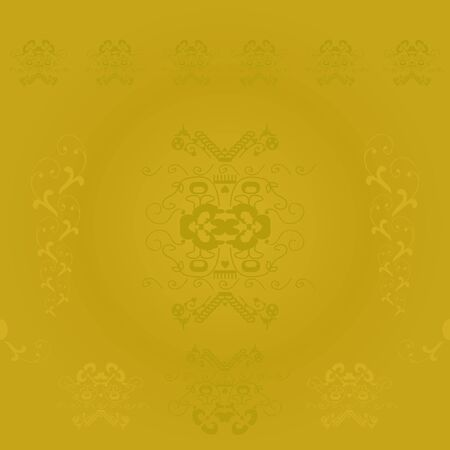 Golden abstract seamless background Vector