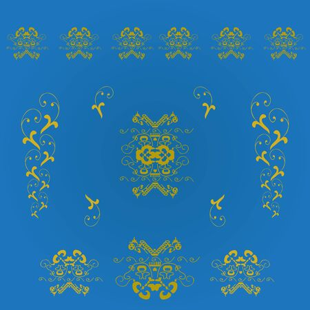 Seamless background with heraldic Illustration