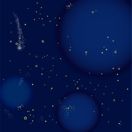 painted space and planets Illustration