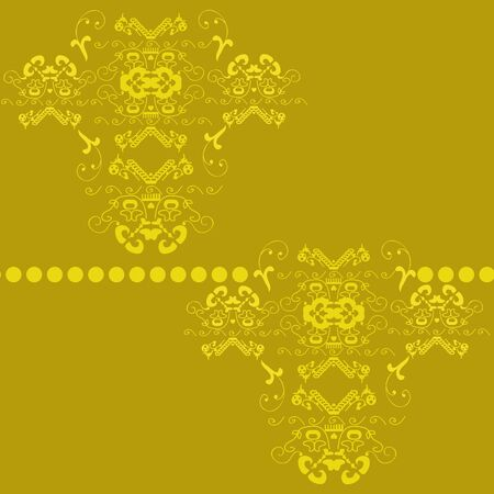 blazonry: the drawn seamless background flowers, flower gold