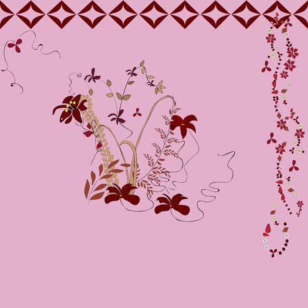 Autumn flowers. Herbarium. wallpaper