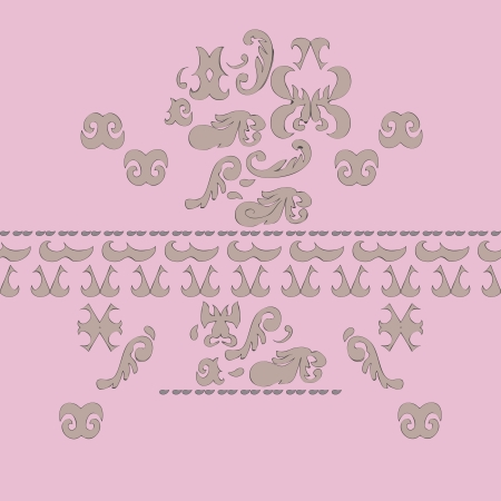 Seamless rose vintage background with pattern