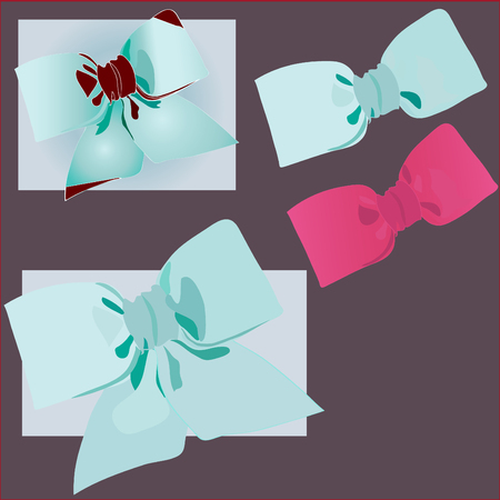 vector holiday decoration bow