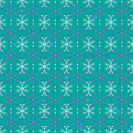 Vector Illustration of a seamless Winter Background with Snowflakes  Illustration