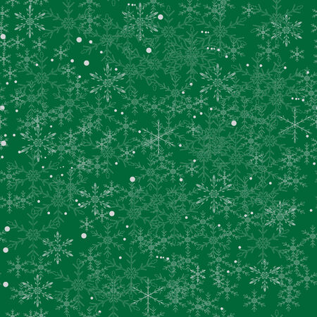 merry Christmas illustration with snowflakes seamless background
