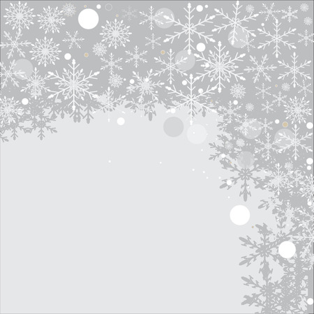 gray background with christmas snowflake