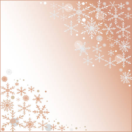 hoarfrost: Abstract light pink background with christmas snowflake