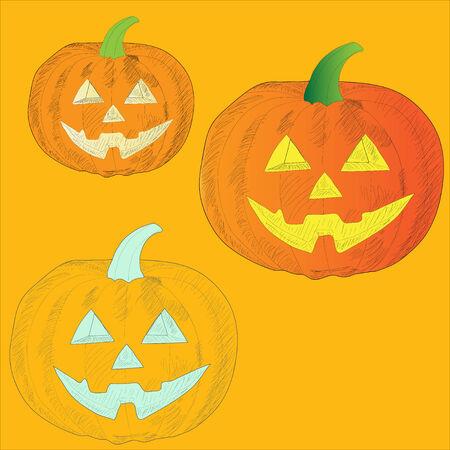 ripe orange pumpkin vegetable halloween frightening