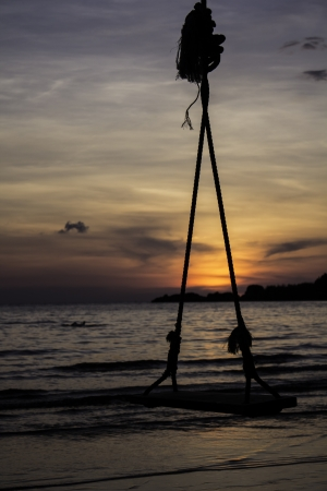 swing in twilight photo