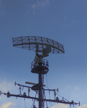 radar gun: radar and sky Stock Photo