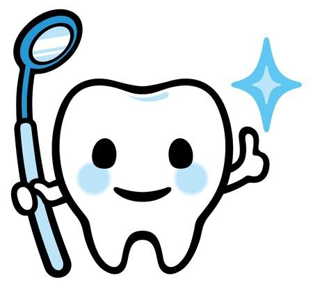 幸せな笑顔歯鏡があります。