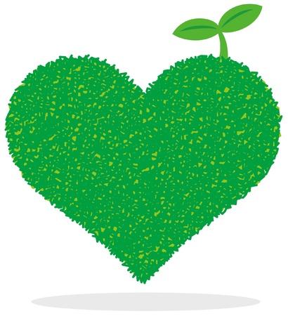 greenness: Heart of Green Illustration