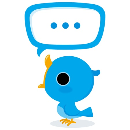 tweet: Blue bird tweet