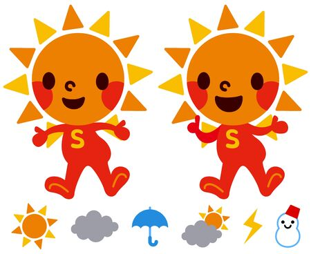 Sun s character Stock Vector - 18066238